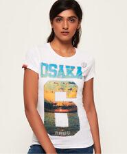 Neues Damen Superdry Coast T-Shirt Weiß