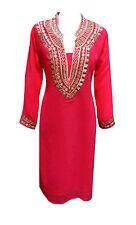Women's fancy Indian Tunics kaftan girls tunic tops sarees kurtis kurta UK 6080
