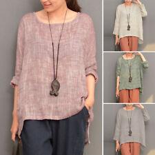 ZANZEA 10-24 Women Pullover Long Sleeve Basic Top T Shirt Tee Baggy Tunic Blouse