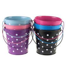 Polka Dot Metal Pail Buckets Party Favor, 5-Inch