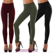 Pantaloni donna leggings elasticizzati eleganti riga aderenti nuovi AS-6009