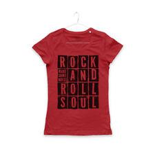 MAGLIETTA ROCK & ROLL SOUL maglia donna anima rock noise MUSIC BAND T-SHIRT GIRL