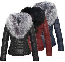 Giacca Invernale Donna Corti trapuntata con rimovibile Collo pelliccia arte D-74