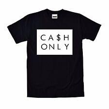 Cash Only T-shirt To Match Retro Air Jordan 6 13 Black Cat Royalty 4 12 Playoffs