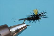 mouche sèche 3 pièces - Noir Parachute mouche avec le corps de peluches