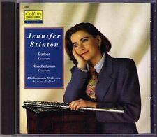 Jennifer Stinton: Barber Khachaturian Flute Concerto CD Steuart Bedford