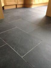 Brazilian Slate ✔Tiles Flooring ✔ 600x400 10mm Thick Calibrated✔Black FREE✔ DEL