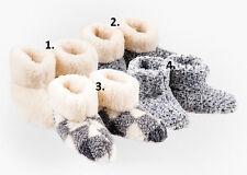 Women`s/Ladie`s Pure Sheep Wool Slippers Boots Sheepskin sizes UK 3,4,5,6,7,8