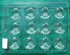 DECORATIVE HEAVY DUTY PLASTIC ROSE SOAP MOLD. 8x10 in. Plastic Sheet, 12 ROSES
