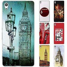 dessana London Union Jack Silikon Schutz Hülle Case Handy Tasche Cover für Sony