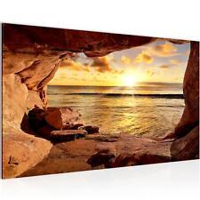 Bild Bilder Wandbild XXL - Sonnenuntergang Meer - Leinwand aus Vlies -  Wanddeko