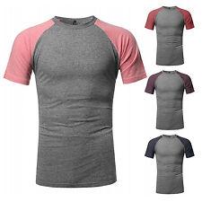NE PEOPLE Mens Raglan U Neck Short Sleeve T-Shirts S-2XL [NEMT88]