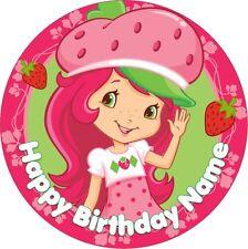 EDIBLE Strawberry Shortcake Cake Topper Birthday Party Wafer Paper 19cm (uncut)