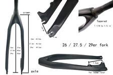 "1 1/8 1.5 "" Mountain bike bicycle CARBON FIBER DISC Tapered fork 26 27.5 29 er"