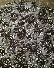 "Stella Star ~STELLA SWIRL~ Brown/White Stretch Cotton Fabric Material 108"" X 60"""