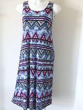 Travel-Knit Dress, Long A-Line Tank,  NEW, stretchy wash&wear poly/span #029