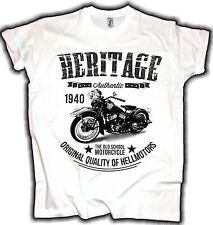 Heritage Biker T-Shirt Vintage Bobber Old School Oldtimer motorcycle Hot Rod