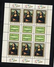 UNGHERIA 1974 MAGYAR POSTA MONA LISA LEONARDO DA VINCI PARIGI LOUVRE 6 VALORI