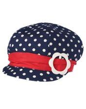GYMBOREE SMART LITTLE LADY NAVY w/ WHITE DOTS PAGEBOY CAP HAT 0 12 24 2T 3T NWT