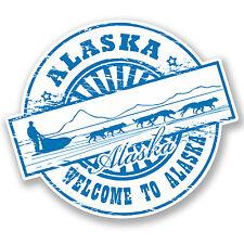 2 x Alaska Vinyl Sticker iPad Laptop Travel Luggage Tag Decal Husky Sled #4534