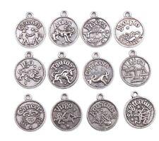 Antique Silver Alloy  Indian/Western Zodiac Charm Coin Pendant Pendants(143070)