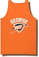 "ORANGE Paul George Oklahoma City Thunder ""PG13"" Jersey Shirt TANK-TOP"