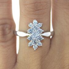 Silver Dew 14K White Gold Plated Designer Ring For Lovely Lady, Women's & Girls