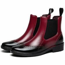 Fashion Women Rain Shoes Waterproof Rubber Ankle Flat Platform Slip-Proof Boots