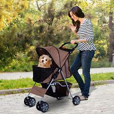 Hundewagen Hundebuggy Hunde Pet Stroller Buggy 4 Farben 3/4 Räder