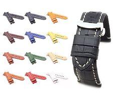 BOB Faltschließband Alligator Style kompatibel Panerai, 24 mm, 12 Farben, neu!