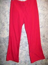 Red scrub pants dental medical vet uniform Cherokee 4101 low rise flare leg leg