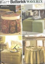 B4677 Butterick Sewing Pattern 4677 Waverly Home Decor Storage Ottomans 4 Styles