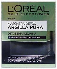 L'OREAL Maschera argilla pura detox nera 50 ml. - cura del viso