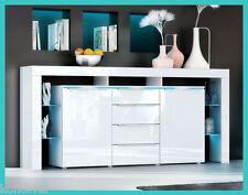 Moderno mobile design credenza laccata cassettone buffet laccato lucido bianco