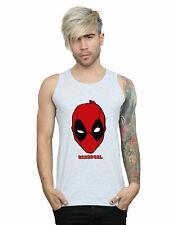 Marvel Hombre Deadpool Mask Camiseta Sin Mangas