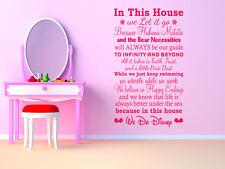 """en esta casa.. nosotros"" Disney Pared Cita, Vinilo, Pegatinas De Pared, transferencia Moderna"