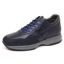 E5022 sneaker uomo blu denim HOGAN INTERACTIVE scarpe H cucitura shoe man