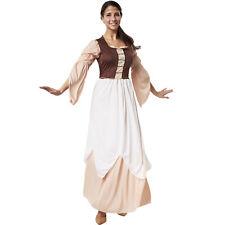 Kostüm Damen Freifrau Magd Bäuerin Mittelalter Kleid Gewand Fasching Karneval