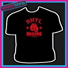Gales Rhyl Boxing Club Guantes Boxer Gimnasio Camiseta