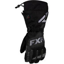 FXR Heated Recon Mens Snow Gloves Black