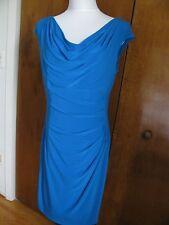 Ralph Lauren Women's Blue Lined Evening NWT Dress Size 6P 14P