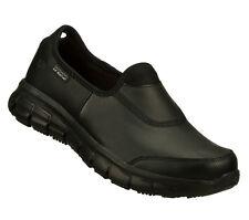 76536 Black Skechers Shoes Women Memory Foam Work Flex Relax Fit Slip Resistant