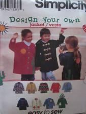 9303 Simplicity Pattern Childs Jacket w/Hood 3-8 FF