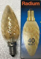 Packs of Radium 40W E14 Gold Twisted Candle 35mm Twisted SBC         F/G