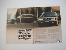 advertising Pubblicità 1980 BMW 745i 745 i TURBO