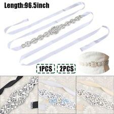2PCS Wedding Bridal Belt Crystal Rhinestone Belt Wedding Dress Belts and Sashes