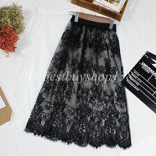 Women Long Lace Slip Skirt Extender ,A Line Skirts Extenders Knee Length