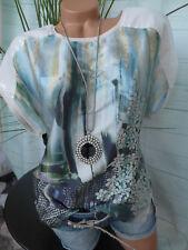 Camiseta de Mujer Camisa Manga Corta Laura Scott Talla 36 hasta 46 Lentejuelas
