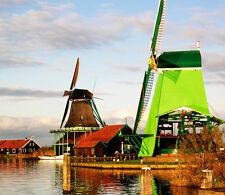3D Dutch Windmill 1A WallPaper Murals Wall Print Decal Wall Deco AJ WALLPAPER
