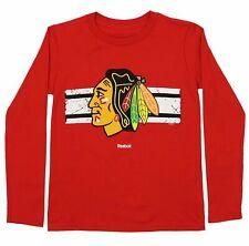 Reebok NHL Youth Chicago Blackhawks Honor Code Long Sleeve Tee, Red